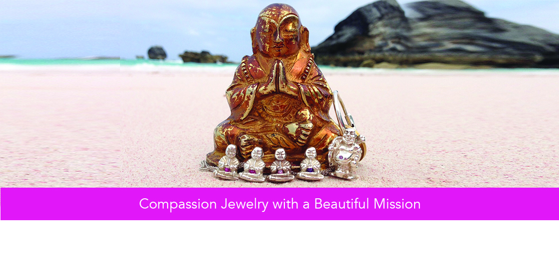 Love Light Compassion Buddha on the Beach in Bermuda