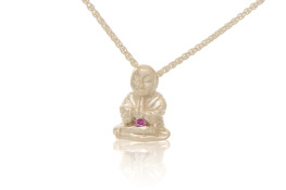 Silver Peaceful Buddha Buddy Necklace