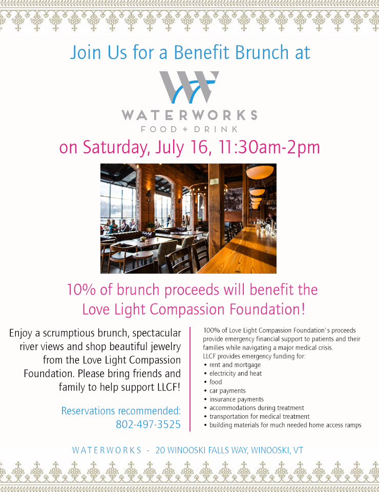 Waterworks Benefit Brunch 7/16 11:30am-2pm